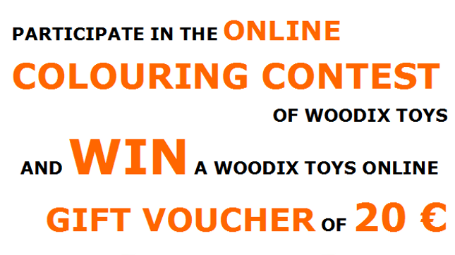 Woodix Toys online colouring contest