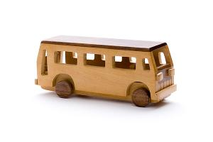 Wooden bus - wooden toy - Woodix Toys ©2008