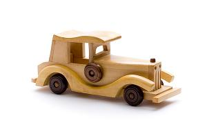 Big wooden oldtimer - wooden toy - Woodix Toys ©2008