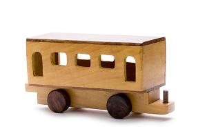 Big wooden wagon for big wooden train - wooden toy - Woodix Toys ©2008