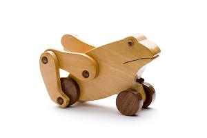 Wooden frog - wooden toy - Woodix Toys ©2008
