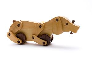 Wooden dog - wooden toy - Woodix Toys ©2008