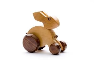 Wooden rabbit - wooden toy - Woodix Toys ©2008