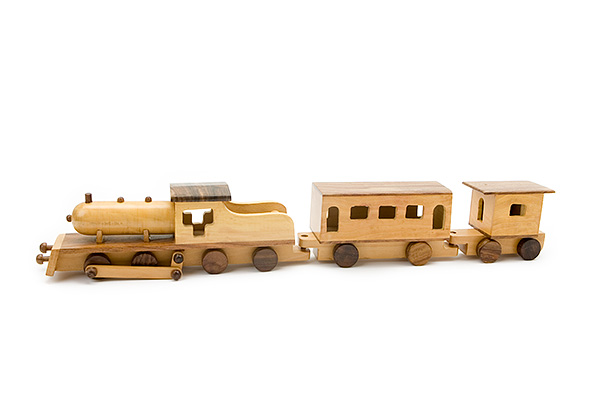 wooden train set 1 wooden locomotive with 1 small and 1 big wooden