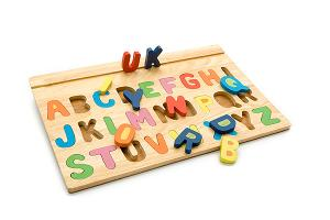 Wooden alphabet board - wooden toy - Woodix Toys ©2008