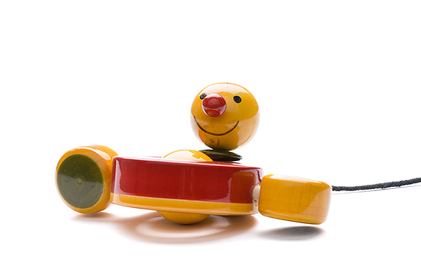 Indi wooden pulling peddling duck - wooden toy - Woodix Toys ©2008