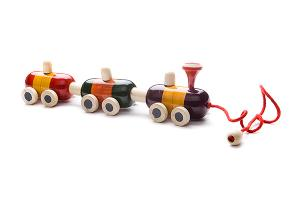 Indi wooden pulling train - wooden toy - Woodix Toys ©2008