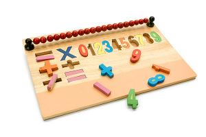 Wooden number board - wooden toy - Woodix Toys ©2008