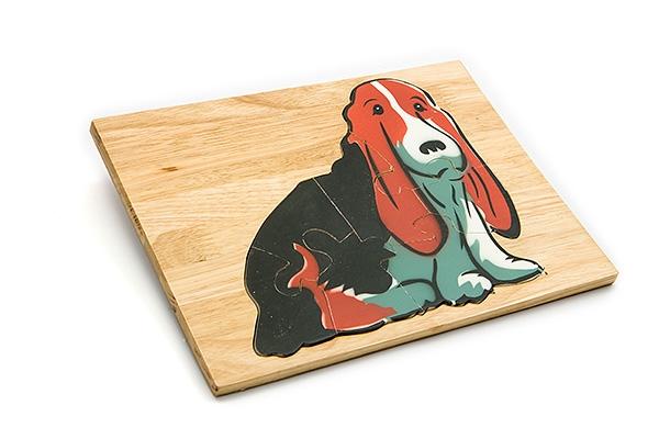 Wooden puzzle board: dog - wooden toy - Woodix Toys ©2008