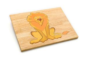 Wooden puzzle board: lion - wooden toy - Woodix Toys ©2008