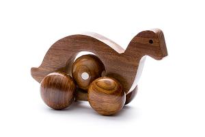 Rolling wooden duck with moving ball - wooden toy - Woodix Toys ©2008
