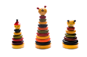 The available indi wooden building rings - wooden toys - Woodix Toys ©2008